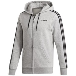 vaatteet Miehet Svetari adidas Originals Essentials 3 Stripes Fullzip Fleece Harmaat