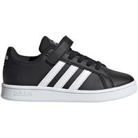 kengät Lapset Matalavartiset tennarit adidas Originals Grand Court C Mustat