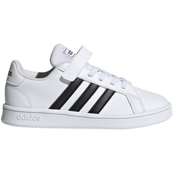 kengät Lapset Matalavartiset tennarit adidas Originals Grand Court C Valkoiset