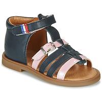 kengät Tytöt Sandaalit ja avokkaat GBB GUINGUETTE Laivastonsininen / Vaaleanpunainen