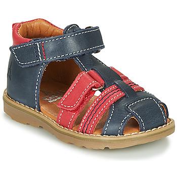kengät Pojat Sandaalit ja avokkaat GBB MACARON Laivastonsininen / Punainen