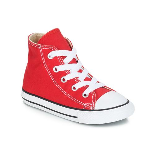 kengät Lapset Korkeavartiset tennarit Converse CHUCK TAYLOR ALL STAR CORE HI Red