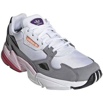 kengät Naiset Matalavartiset tennarit adidas Originals Falcon W Harmaat, Vaaleansiniset, Tummanpunainen