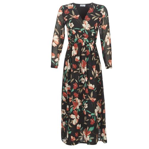 vaatteet Naiset Pitkä mekko Betty London NOISETTE Black / Multicolour