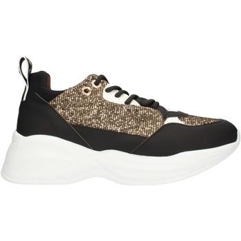 kengät Naiset Matalavartiset tennarit Alexander Smith SP73896 Black gold and white