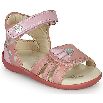 kengät Tytöt Sandaalit ja avokkaat Kickers BICHETTA Vaaleanpunainen