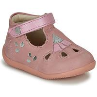 kengät Tytöt Sandaalit ja avokkaat Kickers BLUPINKY Pink / Hopea