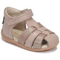 kengät Tytöt Sandaalit ja avokkaat Kickers BIGFLO-2 Pink / Metallinen