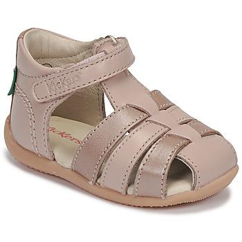 kengät Tytöt Sandaalit ja avokkaat Kickers BIGFLO-2 Vaaleanpunainen / Metallinen