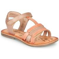 kengät Tytöt Sandaalit ja avokkaat Kickers DIAMANTO Pink / Orange