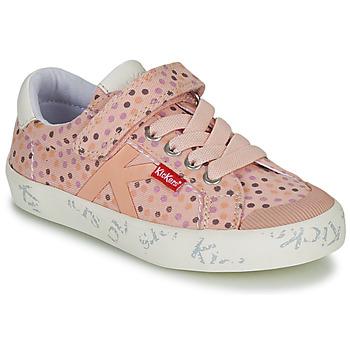 kengät Tytöt Matalavartiset tennarit Kickers GODY Pink / Polka dot