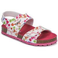 kengät Tytöt Sandaalit ja avokkaat Kickers SUMMERKRO White / Multicolour
