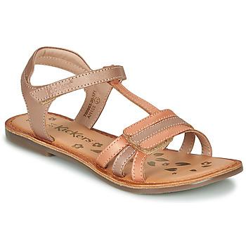 kengät Tytöt Sandaalit ja avokkaat Kickers DIAMANTO Oranssi / Vaaleanpunainen