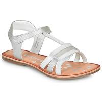 kengät Tytöt Sandaalit ja avokkaat Kickers DIAMANTO White