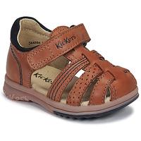kengät Pojat Sandaalit ja avokkaat Kickers PLATIBACK Kamelinruskea