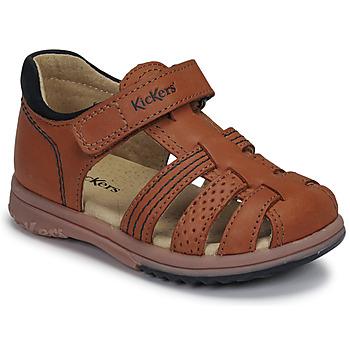 kengät Pojat Sandaalit ja avokkaat Kickers PLATIBACK Brown