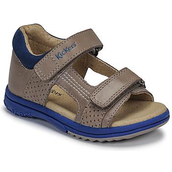 kengät Pojat Sandaalit ja avokkaat Kickers PLAZABI Grey / Blue