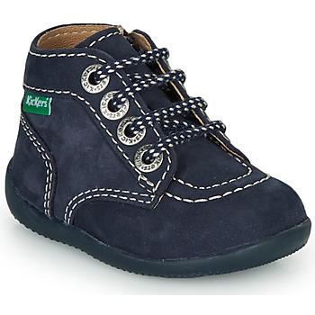 kengät Lapset Bootsit Kickers BONZIP-3 Laivastonsininen