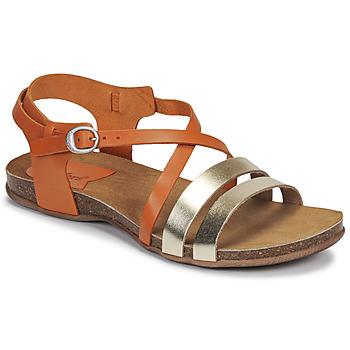 kengät Naiset Sandaalit ja avokkaat Kickers ANATOMIUM Camel / Kulta