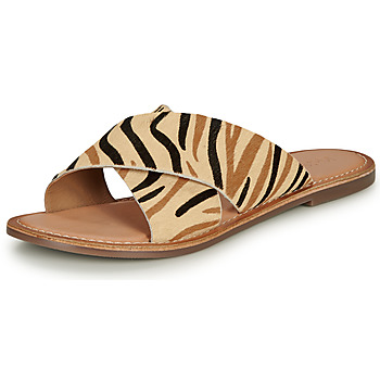 kengät Naiset Sandaalit Kickers DIAZ-2 Beige / Musta / Ruskea
