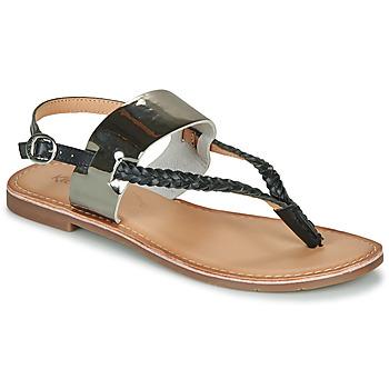 kengät Naiset Sandaalit ja avokkaat Kickers ESTHERA Musta / Hopea