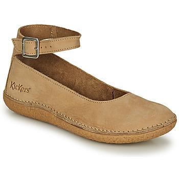 kengät Naiset Balleriinat Kickers HONNORA Beige