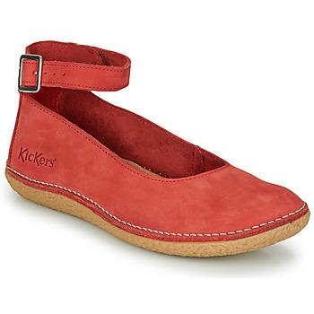 kengät Naiset Balleriinat Kickers HONNORA Red