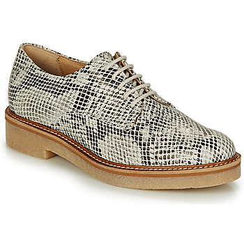 kengät Naiset Derby-kengät Kickers OXFORK White / Black / Python