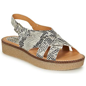 kengät Naiset Sandaalit ja avokkaat Kickers VICTORYNE White / Black / Python