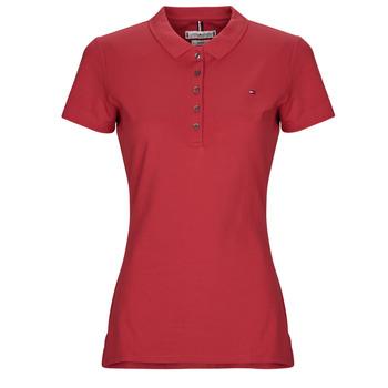 vaatteet Naiset Lyhythihainen poolopaita Tommy Hilfiger NEW CHIARA Punainen
