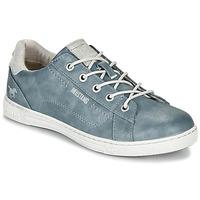 kengät Naiset Matalavartiset tennarit Mustang 1349301-875 Blue