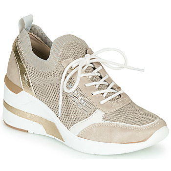 kengät Naiset Matalavartiset tennarit Mustang 1303303-4 Beige