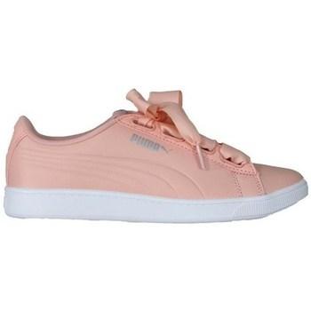 kengät Naiset Matalavartiset tennarit Puma Vikky V2 Ribbon Valkoiset,Vaaleanpunaiset
