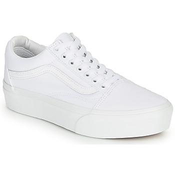 kengät Naiset Matalavartiset tennarit Vans OLD SKOOL PLATFORM White