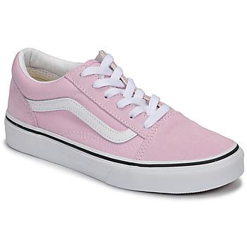 kengät Tytöt Matalavartiset tennarit Vans OLD SKOOL Vaaleanpunainen