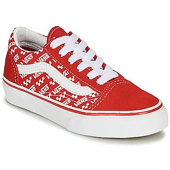 kengät Lapset Matalavartiset tennarit Vans Old Skool Red / White