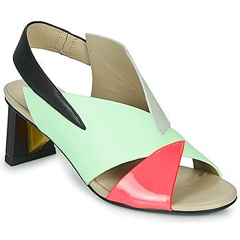 kengät Naiset Sandaalit ja avokkaat United nude SPARK SANDAL MID Blue / Pink
