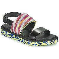 kengät Naiset Sandaalit ja avokkaat United nude OP SANDAL LO Black / Yellow