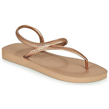kengät Naiset Varvassandaalit Havaianas FLASH URBAN Pink / Kulta