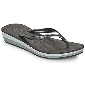 kengät Naiset Varvassandaalit Havaianas HIGH LIGHT Black / Grey