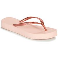 kengät Naiset Varvassandaalit Havaianas SLIM FLATFORM Vaaleanpunainen