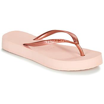 kengät Naiset Varvassandaalit Havaianas SLIM FLATFORM Pink