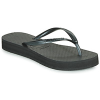 kengät Naiset Varvassandaalit Havaianas SLIM FLATFORM Musta
