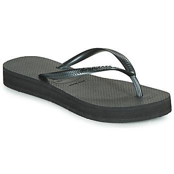 kengät Naiset Varvassandaalit Havaianas SLIM FLATFORM Black