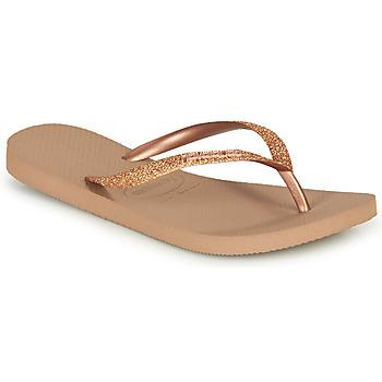 kengät Naiset Varvassandaalit Havaianas SLIM GLITTER Pink / Kulta