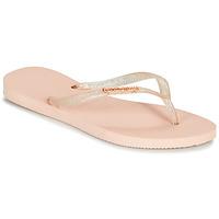 kengät Naiset Varvassandaalit Havaianas SLIM LOGO METALLIC Pink