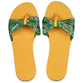 kengät Naiset Varvassandaalit Havaianas YOU SAINT TROPEZ Yellow / Green