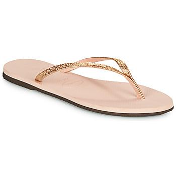 kengät Naiset Varvassandaalit Havaianas YOU SHINE Vaaleanpunainen