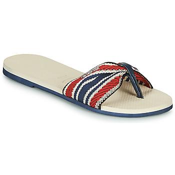 kengät Naiset Varvassandaalit Havaianas YOU SAINT TROPEZ FITA Beige / Laivastonsininen / Punainen