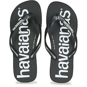 kengät Miehet Varvassandaalit Havaianas TOP LOGOMANIA Musta